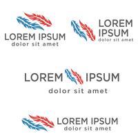 modelo de logotipo criativo de pena criativa, elementos de ícone isolado vetor