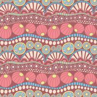 Padrão de doodle colorido abstrato. Mão desenhada doodle padrão sem emenda para têxteis