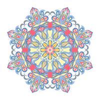 Ornamento de mandala de vetor. Elementos decorativos vintage. Padrão redondo Oriental. Islã, árabe, indiano, turco, paquistão, chinês, motivos otomanos.