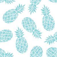 Fundo do vetor de abacaxi. Cópia tropical colorida de matéria têxtil do verão.