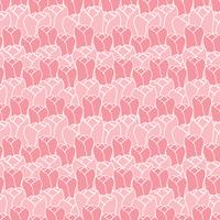 Teste padrão floral com tulipas. Teste padrão floral do vetor. Fundo floral sem emenda.
