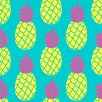 Padrão sem emenda de abacaxi em cores da moda. Fundo de repetição colorido do verão para o papel de parede do projeto de matéria têxtil, scrapbooking. vetor