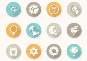 Diversos vetores de botão circular