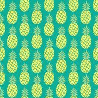 Fundo do vetor de abacaxi. Padrão sem emenda de abacaxi. Padrão de têxteis de abacaxi. Fundo de repetição do abacaxi, cópia colorida de matéria têxtil do abacaxi do verão. Fundo do abacaxi para scrapbooking.