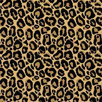 Padrão sem emenda de vetor com textura de pele de leopardo. Repetindo o fundo de pele de leopardo para design têxtil, papel de embrulho, papel de parede ou scrapbooking.