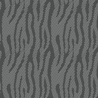 Animal print abstrata. Padrão de vetor sem costura com zebra, listras de tigre. Matéria têxtil que repete o fundo animal da pele. Meio-tom, listras, infinito, bachground