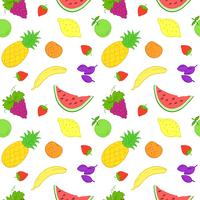 Padrão sem emenda com frutas. vetor