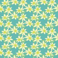 Teste padrão colorido sem emenda do vetor com flores da mola. Padrão de flores de vetor. Fundo floral colorido. Elementos florais. Teste padrão floral têxtil. Fundo de primavera.