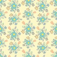 Fundo colorido sem costura com flores da primavera. Teste padrão floral para têxteis.