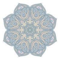 Mandala de vetor. Elemento decorativo Oriental. Islã, árabe, indiano, turco, paquistão, chinês, motivos otomanos. Elementos de design étnico. Mandala desenhada de mão. Símbolo de mandala colorida para seu projeto.