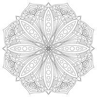Mandala de vetor. Elemento decorativo oriental desenhado de mão. Elemento de design étnico.