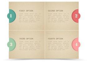 Cardboard Card Vector Set