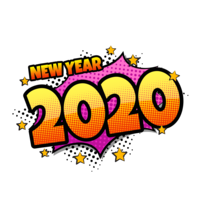 Balão de fala em quadrinhos 2020 vetor