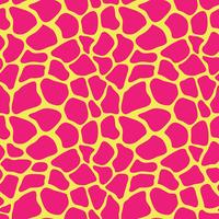 Cópia animal colorida abstrata. Padrão de vetor sem costura com manchas de girafa. Matéria têxtil que repete o fundo animal da pele.