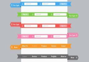 Pacote de vetores de menu moderno de formulário de navegação de fita