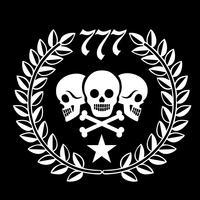 emblema militar com crânio,