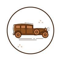 Carro de linha arte retro