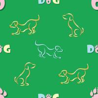 Fundo. Vetor desenho de 2018 para o ano lunar asiático. Ano do cão. Feliz Ano Novo, toda a paz e prosperidade.