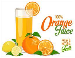 Fundo de suco de laranja vetor