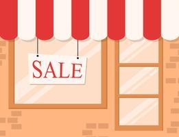 Fundo de loja e mercado vetor