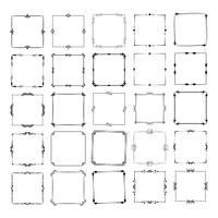 um grande conjunto de quadros de diferentes formas. Vector Vintage Frame Set