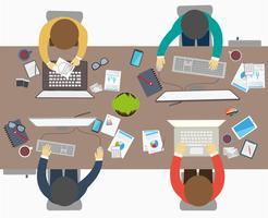 Estilo de design plano de parceria de sucesso vetor