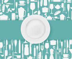 Design do menu do restaurante vetor