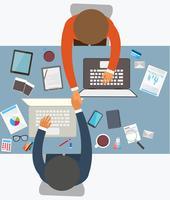 Estilo de design plano de parceria de sucesso