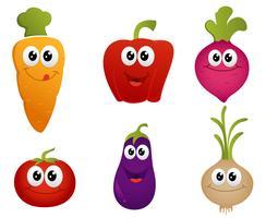 vegetal engraçado dos desenhos animados vetor