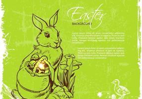 Fundo de vetor de coelhinho da Páscoa