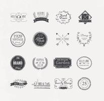Vetores de logotipo desenhado de mão