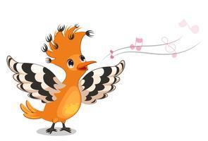 Canto de pássaro poupa vetor