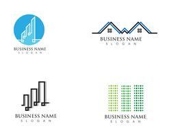 Logotipos de vetor de linha em casa