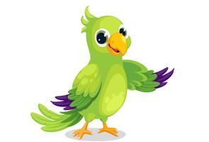 Vetor de papagaio dos desenhos animados