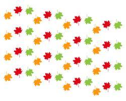 ilustração em vetor Outono folha