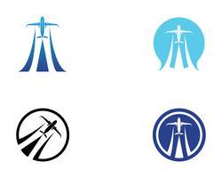 Aeronave, avião, rótulo de logotipo de companhia aérea. Viagem, viagens aéreas, símbolo de avião. Ilustração vetorial vetor