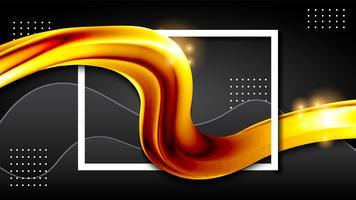 design de papel de parede de fundo líquido ouro fluido