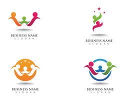 Logotipo e símbolo da família de adoção vetor