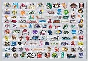 Logotipos de basquete ncaa pt1 vetor
