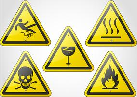 conjunto de sinal de aviso vetor