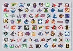 Logotipos de hóquei da NHL vetor