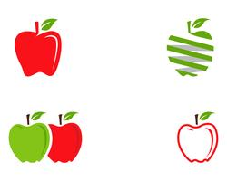 Ilustração vetorial de maçã vetor
