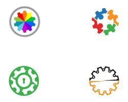 Projeto de ilustração de ícone de vetor de logotipo de engrenagem