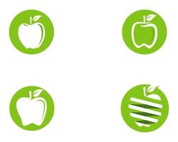 Ilustração vetorial de maçã