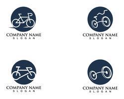 Vetor de logotipo e símbolos de bicicleta