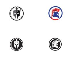 Vetor de logotipo de capacete espartano