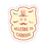 adesivo de máscaras de carnaval vetor