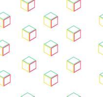 padrão sem emenda de caixa abstrata de forma vetor