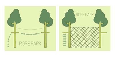 Pista de parque de corda vetor