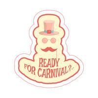 máscaras de carnaval dos desenhos animados vetor